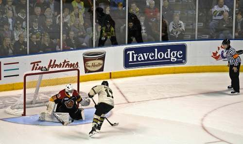 London Ontario, London Knights vs Erie Otters, Shoot-Out Action, photo by Mike Keenan