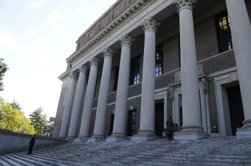 Cambridge, Mass., Harvard University, Widener Library, photo by Mike Keenan