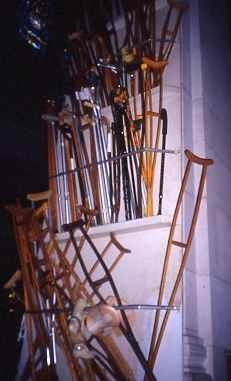 crutches in Cathedral